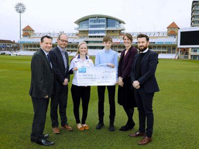 Roan Jones Sports Aid cheque - 1