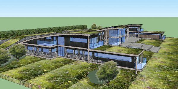 mock up of hotel development at The Retreat Kilvington Lakes